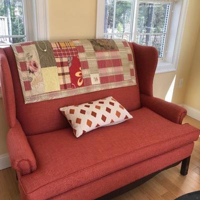 $265 Newly Upholstered Loveseat