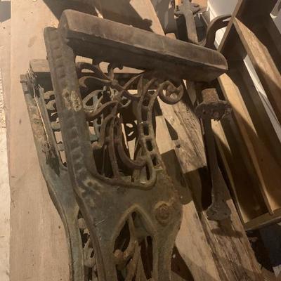 Cast iron theatre seat frames