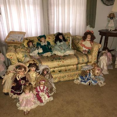Just a portion of the doll collection