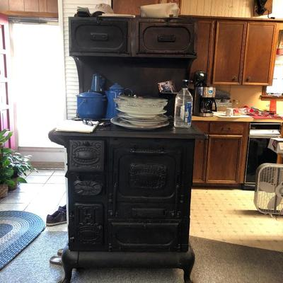 Antique Malleable wood burning stove