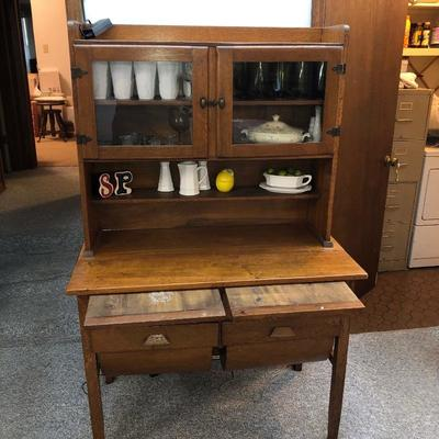 Bakers cabinet with two dough boards