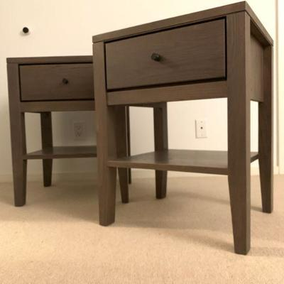 PAIR, Bed Side Tables, from Wood Castle. Find the FULL LISTING, Prices and MAKE AN OFFER, on our website, www.huntestatesales.com