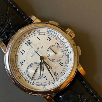 """Limited """"Boutique Edition"""" 1815 Flyback Chronograph in 18K white gold. Retails for $56,000.00. Find the FULL LISTING, Prices and MAKE AN..."""