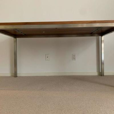 Room and Board Portica Table with Stainless Base. Find the FULL LISTING, Prices and MAKE AN OFFER, on our website, www.huntestatesales.com