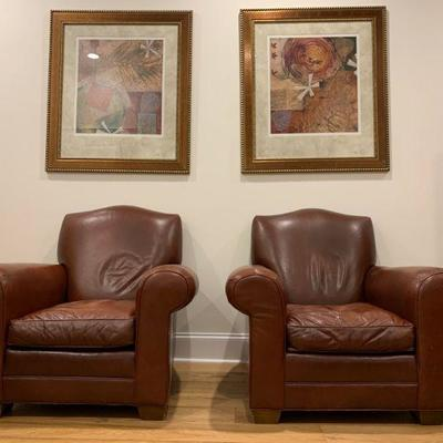 Leather Club Chairs. Find the FULL LISTING, Prices and MAKE AN OFFER, on our website, www.huntestatesales.com