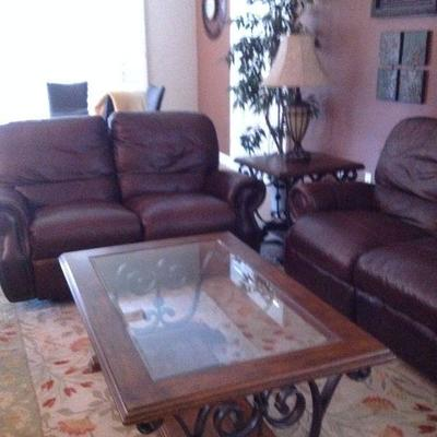 Love seat is a double recliner