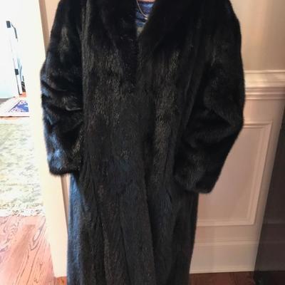 Lady's black mink coat $395