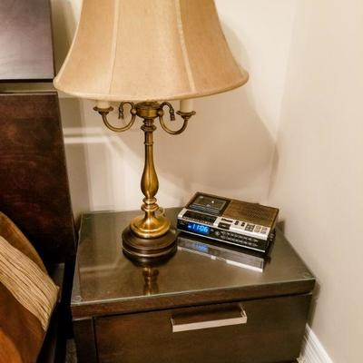 Amish Made Contemporary platform height set of nightstands.   Measures  26