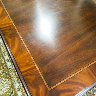 Henkel Harris Chippendale Mahogany coffee table. Does have a few minor scratches as pictured.