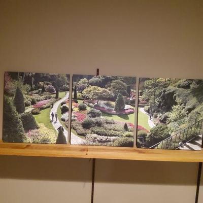 3 Panel Wrapped Canvas Print Set