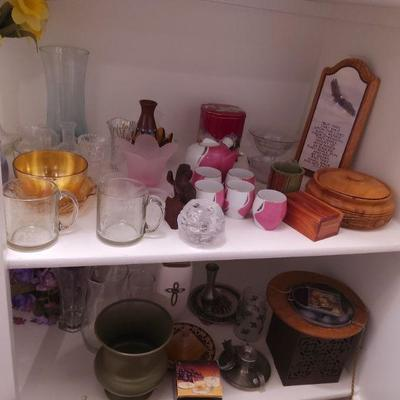Assorted Vases, Wall Hangings, and Other Knickknacks