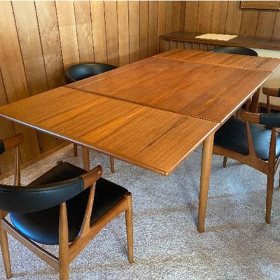 Andersen Vejen, Denmark dining table and chairs