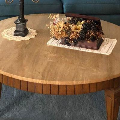 https://www.ebay.com/itm/114240036518BU1023 Mediterranean 1970s Round Wood Coffee Table Local Pickup Auction