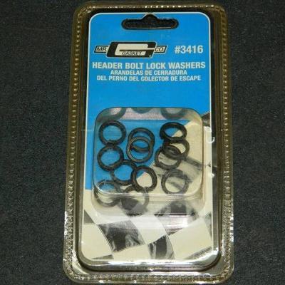 Lot of 8 Sets 12 Per Set Lockwashers 96 Total MR GASKET 3416 BLACK HEADER BOLT (12) 38 INCH I.D. ID LOCK LOCKING WASHERS