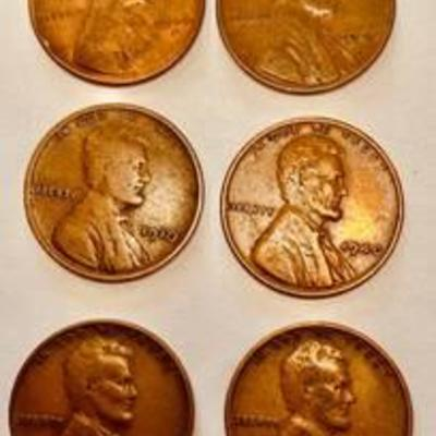 #Lot of Copper Wheat Back Lincoln Pennies - 1910 - 1916 - 1940 - 1940 - 1946 - 1946