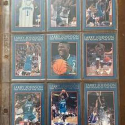 12 Card Set - 1992 ROOKIE OF THE YEAR - Larry Johnson - Vintage Cards