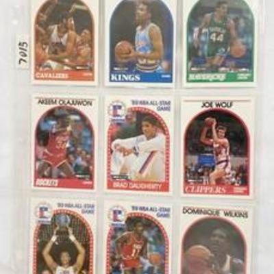 1989 All-Star - Player Basketball Cards - Olajuwon - Monlone - Dominique Wilkins - Isiah Thomas