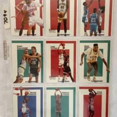 1991 Courtside DRAFT PIX Basketball Cards