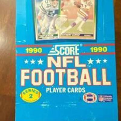 30 Year Old Box - 1990 Score NFL Football Player Cards Series 2 - Sealed Packs