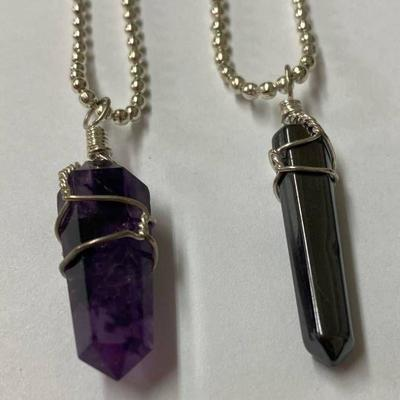 Amethyst Necklace & Hematite Necklace - Very Pretty Need a Gift for Someone