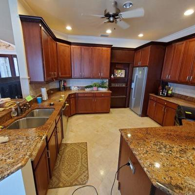 ALL KITCHEN CABINETS AND COUNTER TOPS