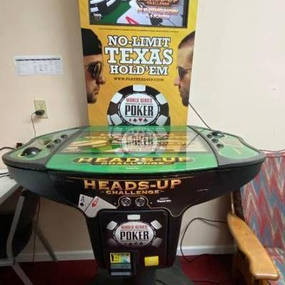8 Player Tournament Heads-Up Challenge TEXAS HOLD'EM POKER Arcade Coin Operated Game with Tournament Screen