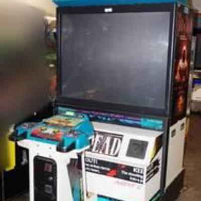 House of the Dead Arcade game from SEGA LIGHTED MARQUE WOULD MAKE A GREAT HAUNTED HOUSE PROP