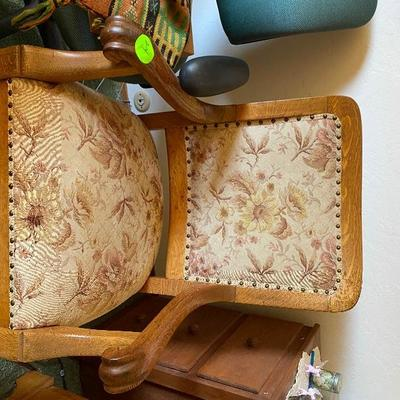 Item # 24 oak chair $35.