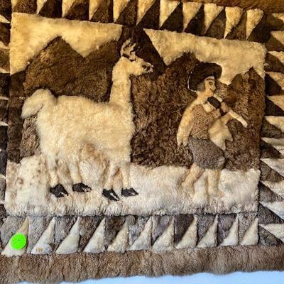 Item # 23 alpaca rug $$40.