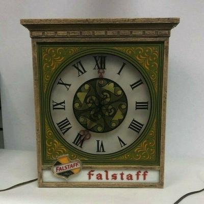 Starts 06/05/2020 After 6 PM https://www.ebay.com/itm/114243753000	Cma2073: Vintage Falstaff Beer Clock (Untestable) 14