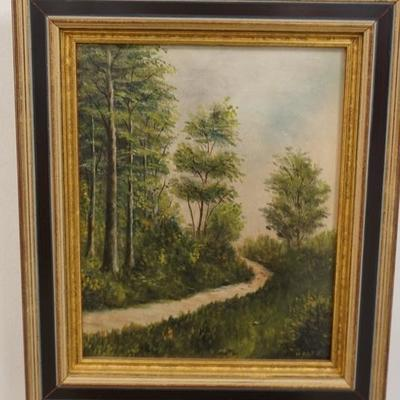 1011	OIL ON BOARD LANDSCAPE SIGNED H ABBS