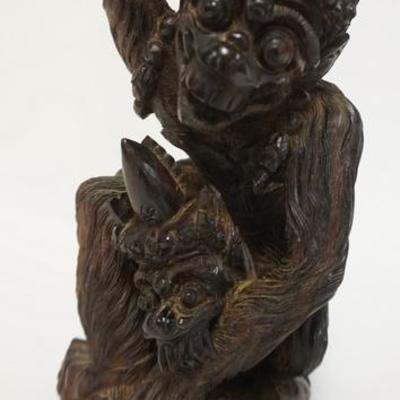 1004	CARVED HARDWOOD-GROTESQUE ANIMAL, 8 1/2 IN HIGH