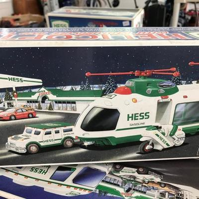 Hess trucks in original boxes. Starting price $16 prices vary.