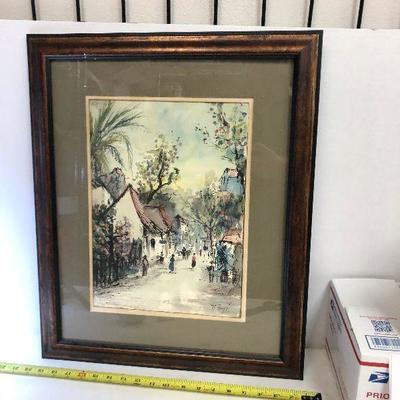 https://www.ebay.com/itm/114218433931	LAN9831: NESTOR FRUGE New Orleans Artist Original Watercolor Framed Wall Art	 $199.99