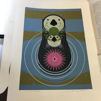 https://www.ebay.com/itm/114218433938LAN9833 Charles Harper Serigraph 1976 Devotion in the Ocean Sea Otter #ed Signed $700.00