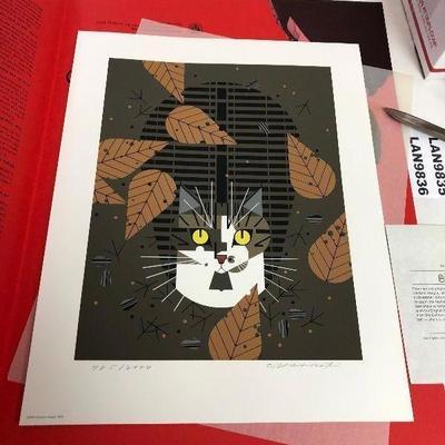 https://www.ebay.com/itm/124181783076LAN9834 Charles Harper Serigraph Birdwatcher 1975 Cat #ed and Signed $700.00