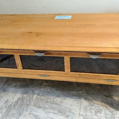 WW Coffee Table w/drop down glass display side 25
