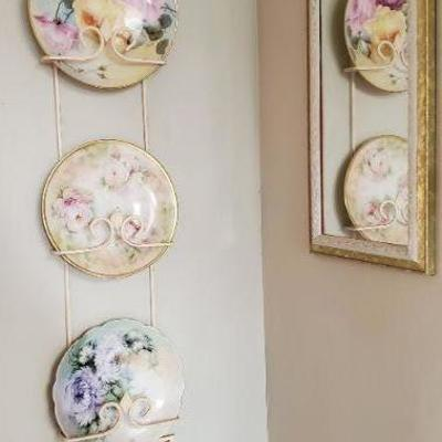 Antique hand painted porcelain dishes.