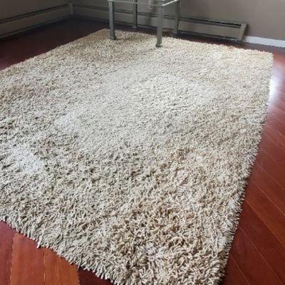 Like new chenille shag area rug.