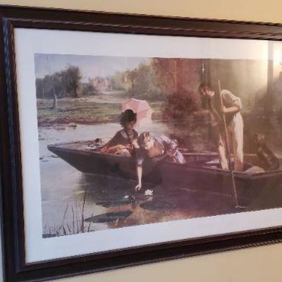 Large framed art print.