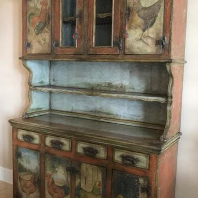 One of a kind, custom made from antique French wood hutch $$3,995 63 X 22 X 82