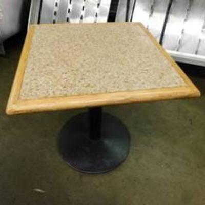 27 Square Dining Height Table With Stone Insert