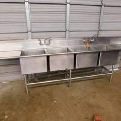 4 Bay Stainless Sink