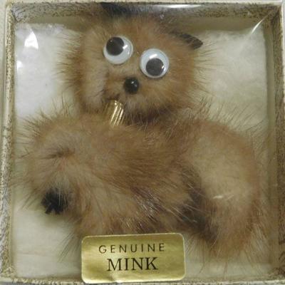 Mink Brooch