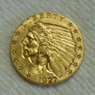 1927 Indian Head 2 1/2 Dollars