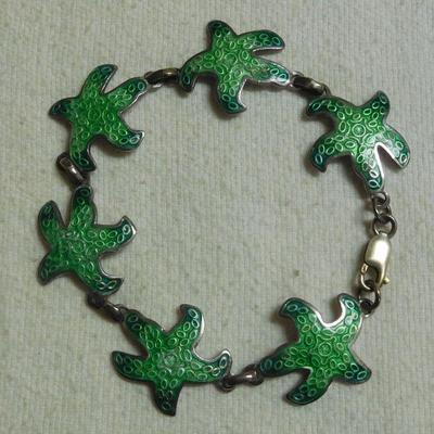 980 Silver Enamel Bracelet