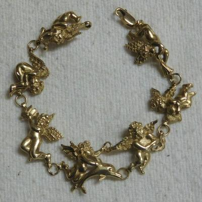 14 k Angel Bracelet
