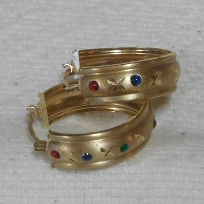 14 k Stone Earrings