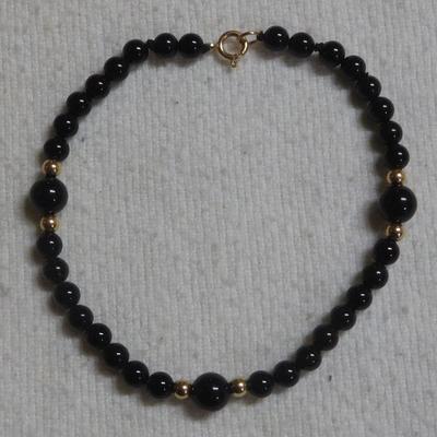 14 k Onyx Bracelet