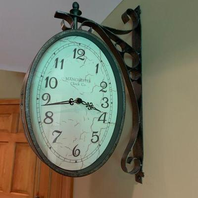 Double sided wall clock     $95
